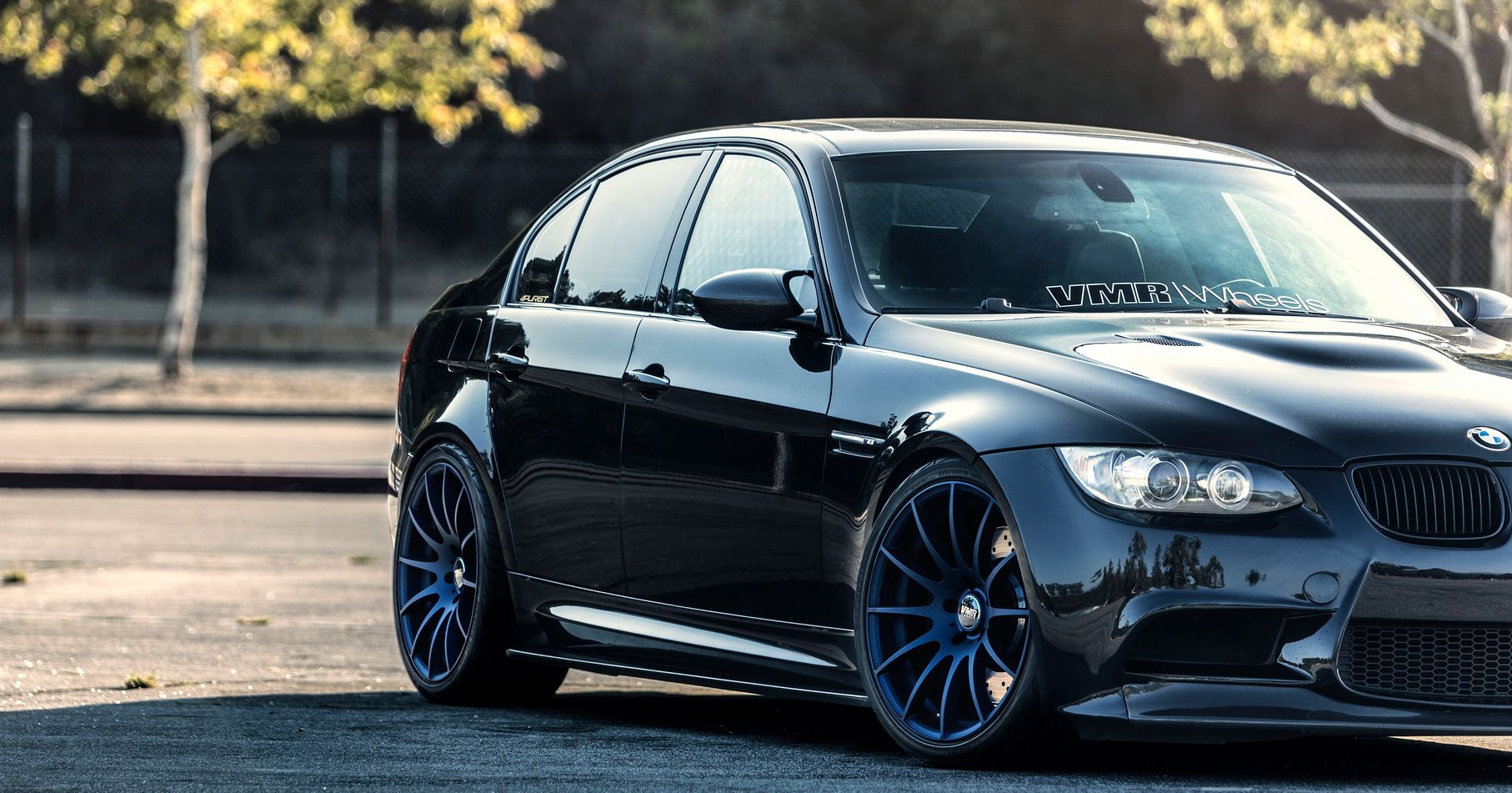bmw e90 m3 jerez black with vmr 721 matte dark blue 19. Black Bedroom Furniture Sets. Home Design Ideas