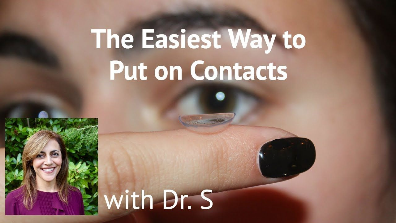 The Easiest Way to Put on Contacts - YouTube   Contact ...