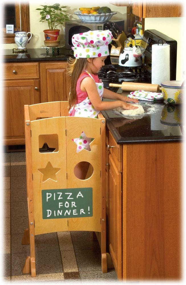Guidecraft G97325 Wooden Little Kids Kitchen Helper Wood Step Stool NEW #Guidecraft