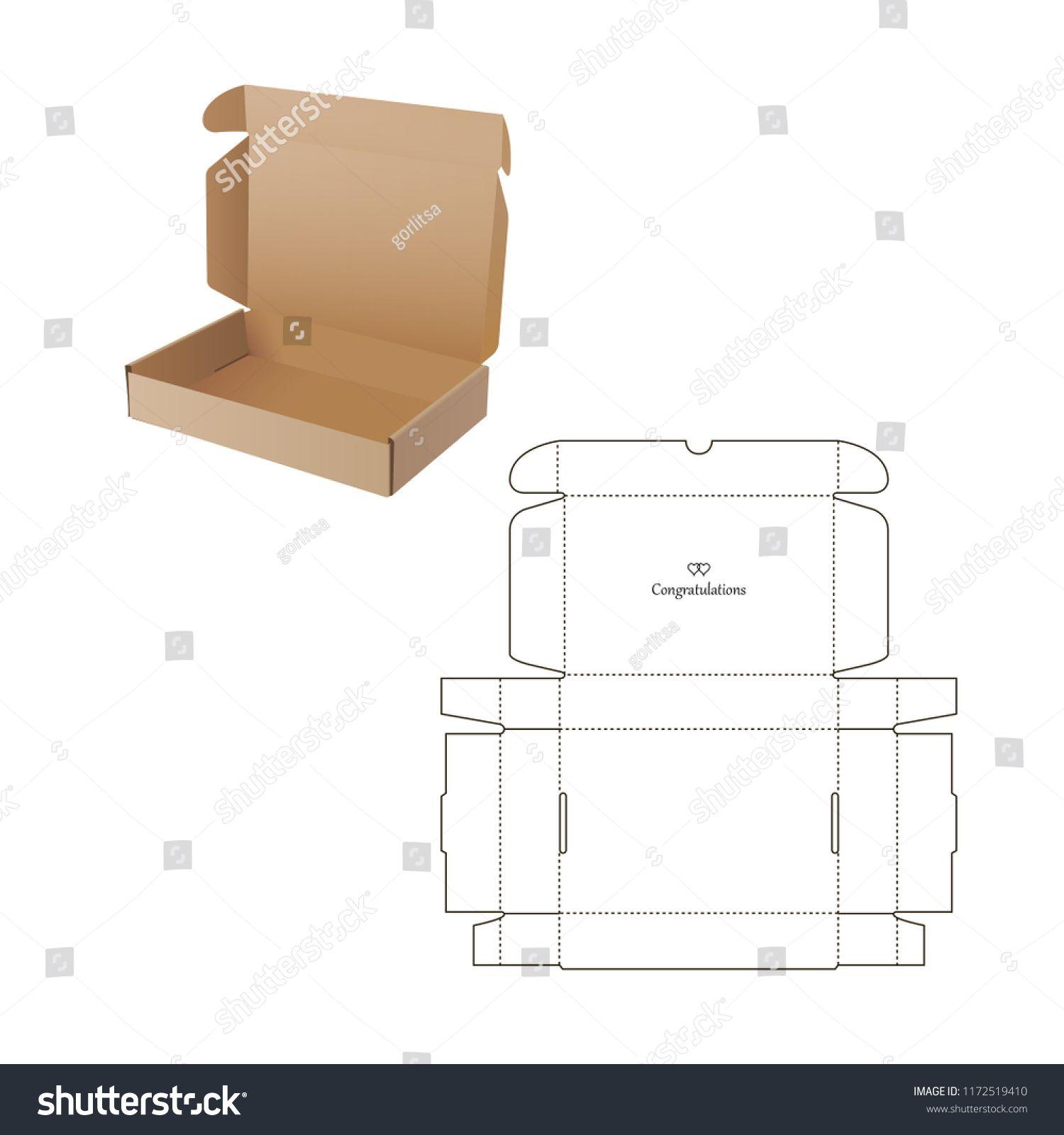Retail Box Blueprint Template Royalty Free Stock Image Diy Gift Box Template Packaging Diy Box Paper Box Template