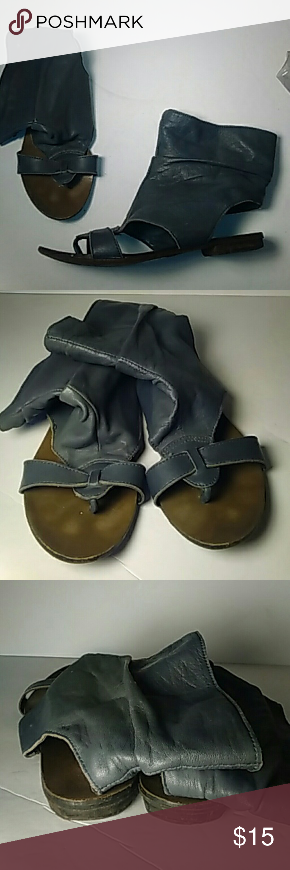Italian leather gladiator sandals. Butter soft Italian leather, good condition but show some wear with plenty of life left! Really cute shoes!! Reqins Shoes Sandals