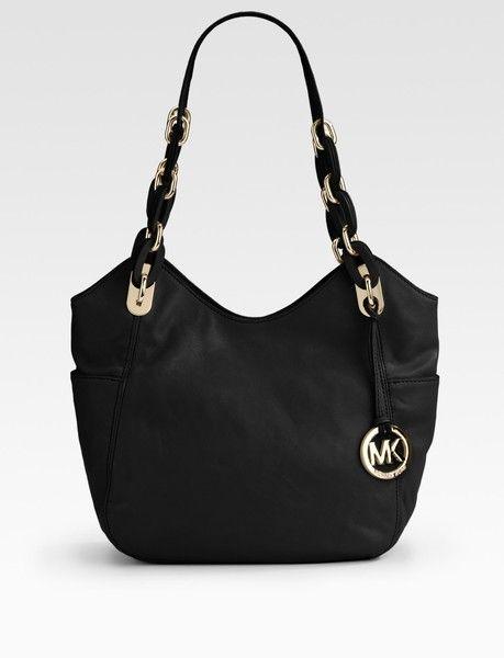 e75eb2f440ac MICHAEL KORS LIPPY HANDBAG | Michael By Michael Kors Lilly Medium Leather  Shoulder Bag in Black .
