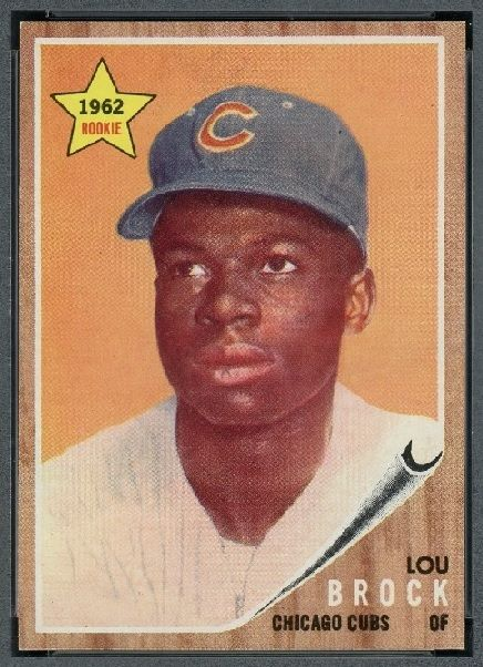 Do Baseball Cards Show Lou Brock As A Traitor Baseball Card Values Chicago Cubs Baseball Baseball Cards
