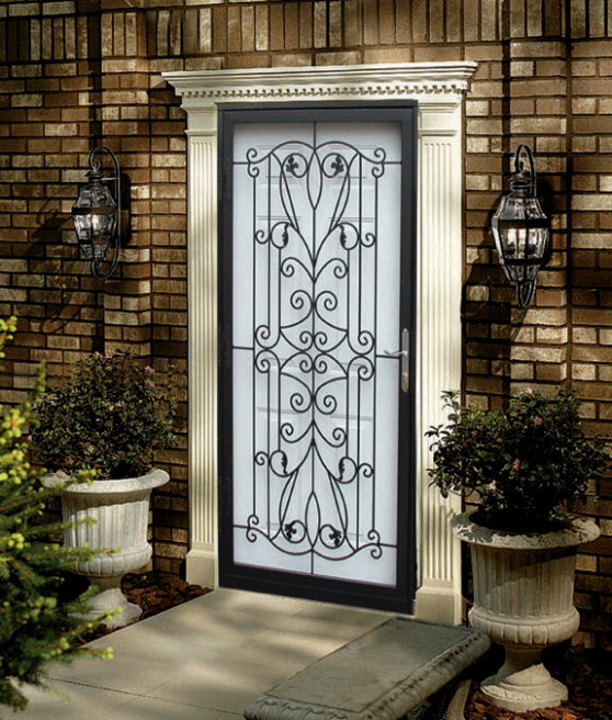 Wrought Iron Storm Door Home Decorating Inspiration