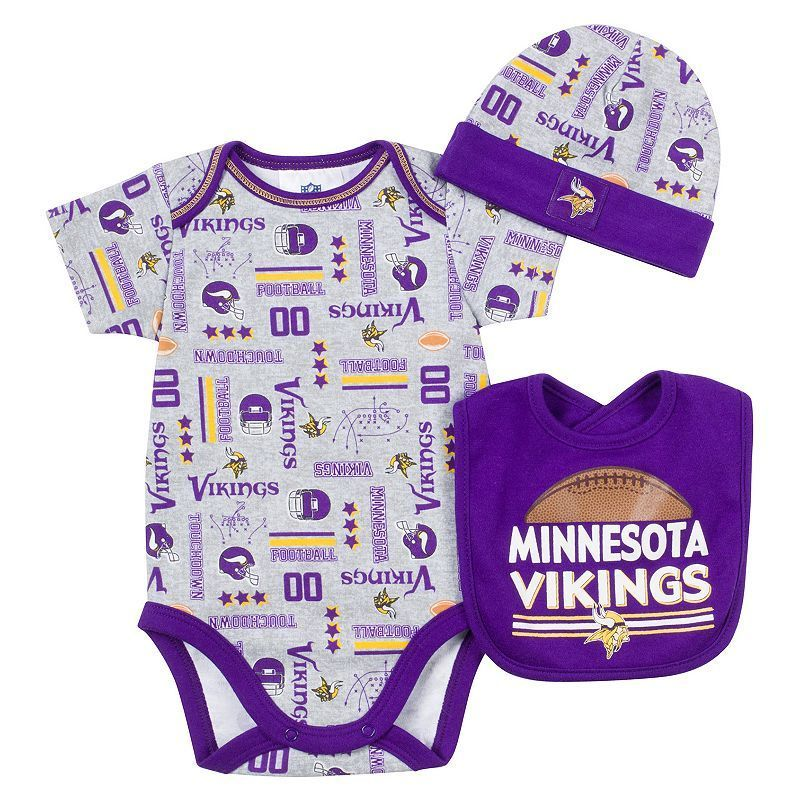 99a1db339 Baby Gerber Minnesota Vikings 3-Piece Bodysuit