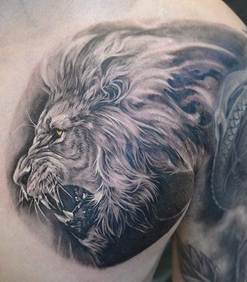 Lion Tattoo By Elvin Yong Tattoo Tatuajes De El Rey León Pantera