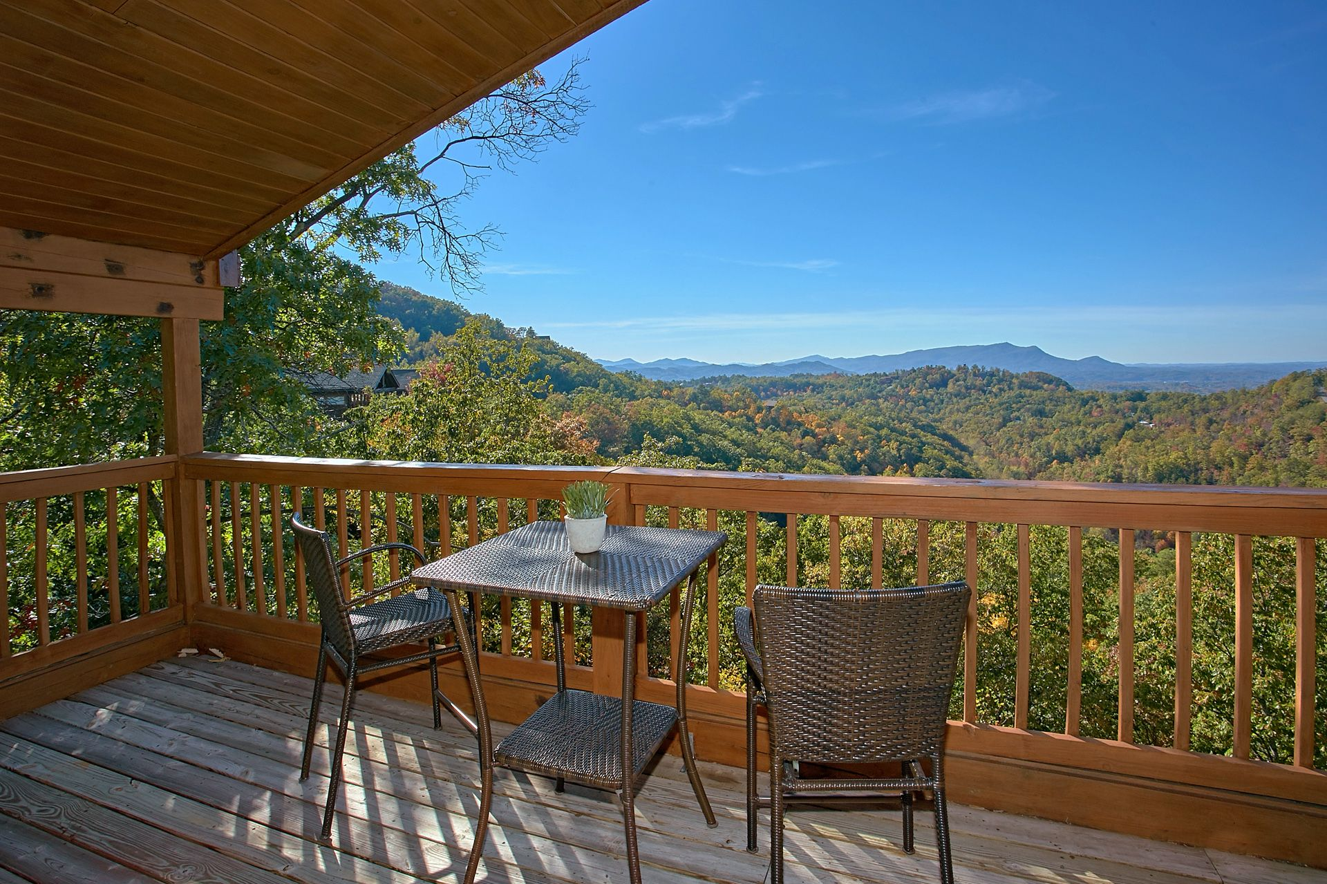 SEVIERVILLE Cabin Rental MORNING VIEW 131 1 Bedroom
