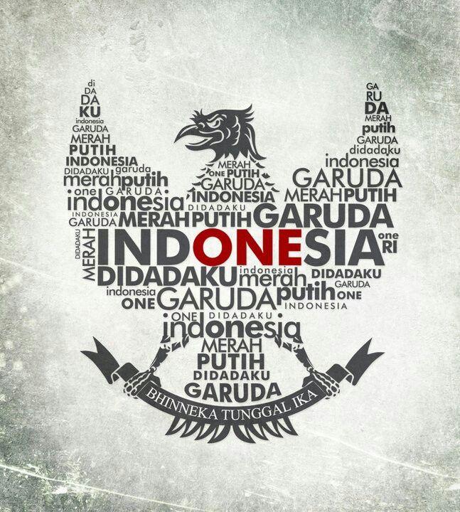 Garuda Di Dadaku Gambar Desain Tipografi Indonesia