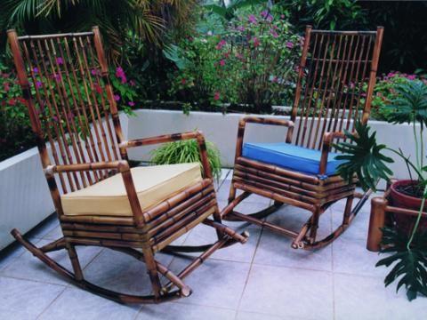 Muebles de bamb para terraza y piscina muebles bamb - Muebles en bambu ...