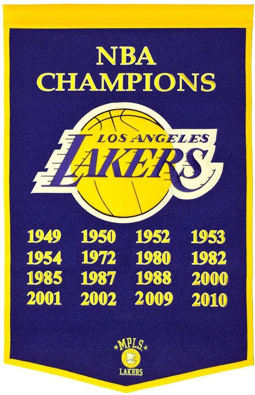 2f94e0fa534 NBA Los Angeles Lakers Dynasty Banner
