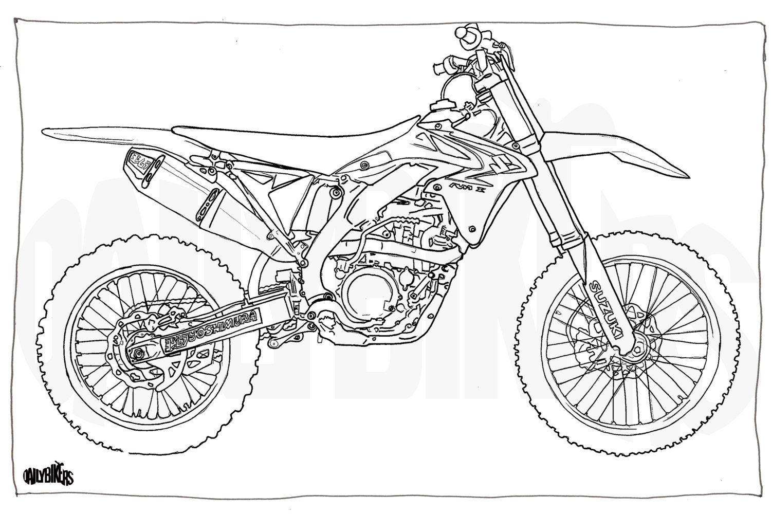 Disegni Motocross: Motorcycle Illustration