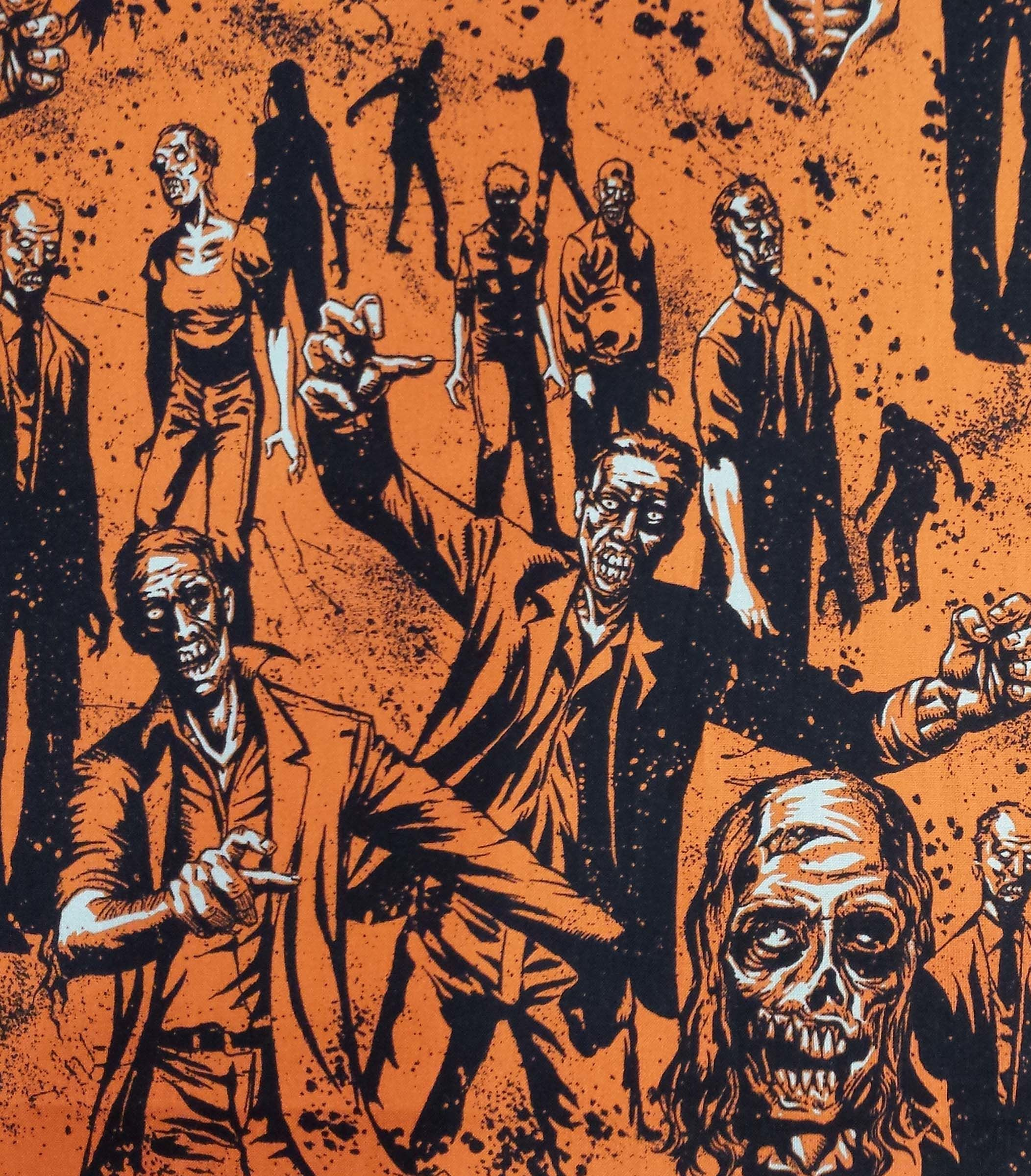 Holiday Inspirations Fabric Halloween Zombies Orange Jo Ann Witch Witch Trials Zombie Style [ 2400 x 2104 Pixel ]