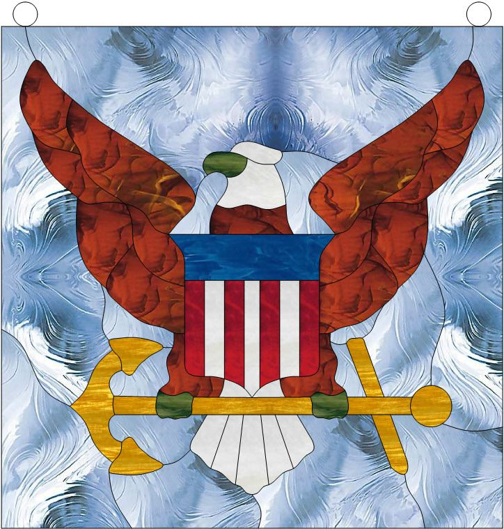 United States Navy Leaded Stained Glass Symbol (Also ...