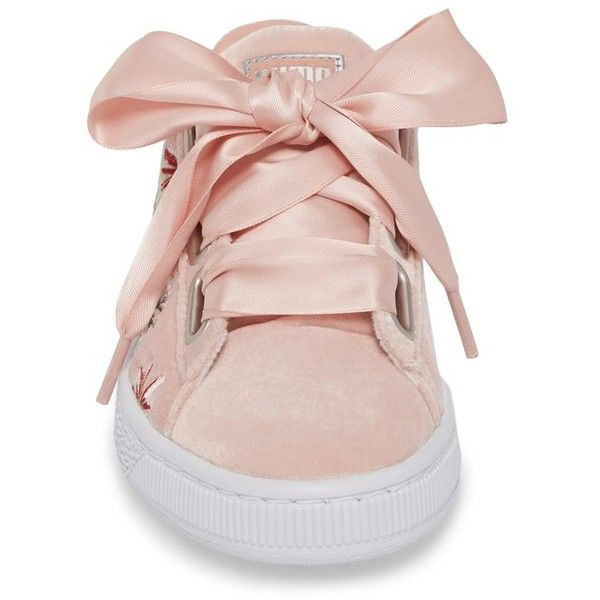 Women s Puma Basket Heart Hyper Embroidered Sneaker (330 AED) ❤ liked on Polyvore  featuring shoes 019d9b690