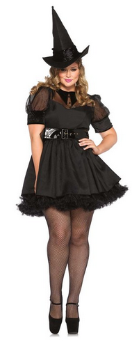 plussize bewitching witch halloween costume - Salem Witch Halloween Costume