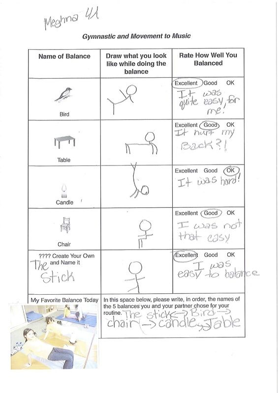 PYP PE Individual Balances Gymnastics Lesson Plan (grade 4) - PYP - basketball evaluation form