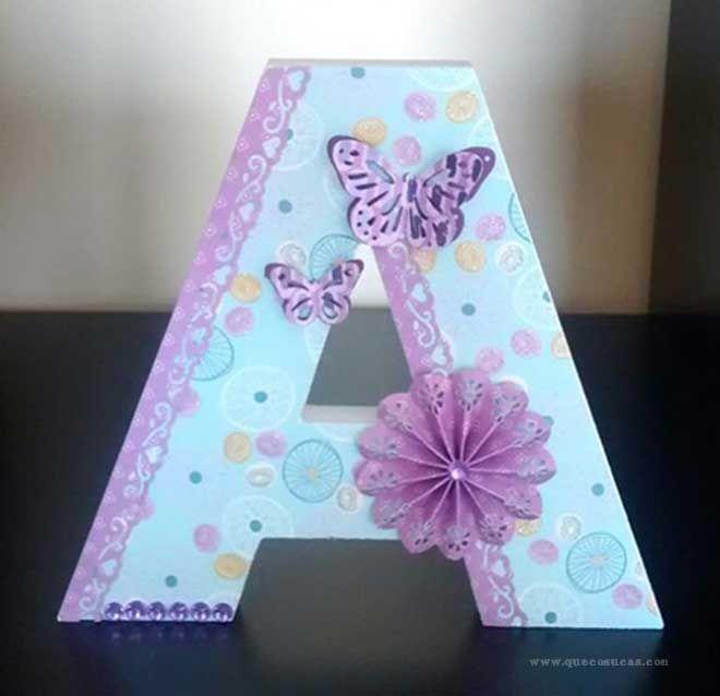 Scrapbooking decorar letra a diy pinterest letras letras decoradas y las letras - Letras decoradas scrap ...