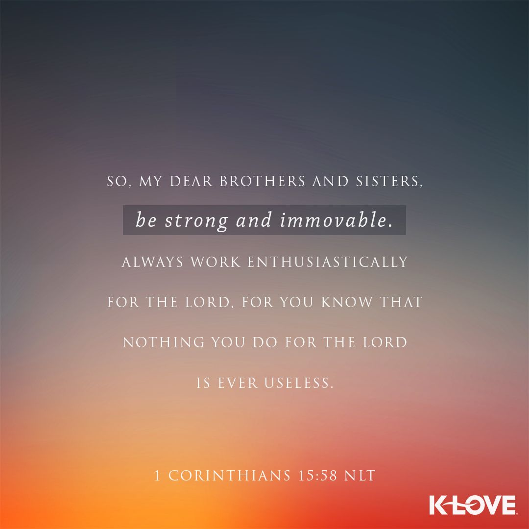 VOTD scripture strong immovable Verses about love