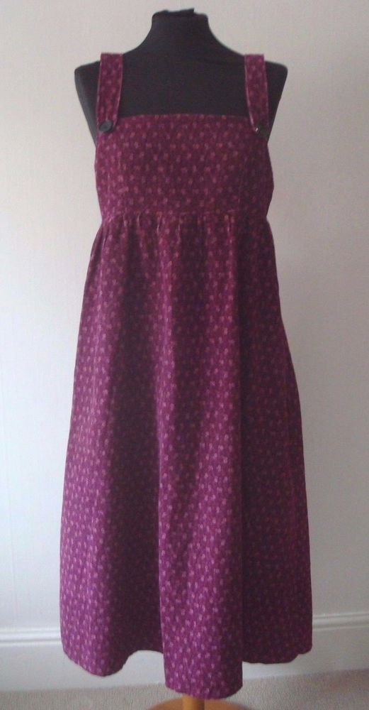 RARE VINTAGE 70s LAURA ASHLEY FLORAL CORD PINAFORE DRESS MADE IN ...