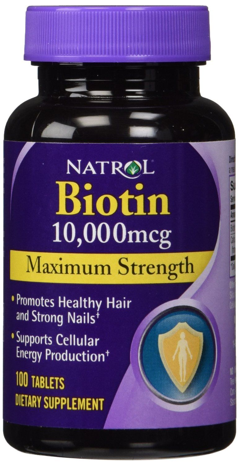 Natrol Biotin 10 000 Mcg Maximum Strength Tablets 100 Count
