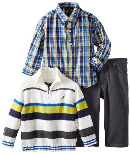 2027176f63d0 Nautica Baby-Boys Infant Color Block Sweater Set