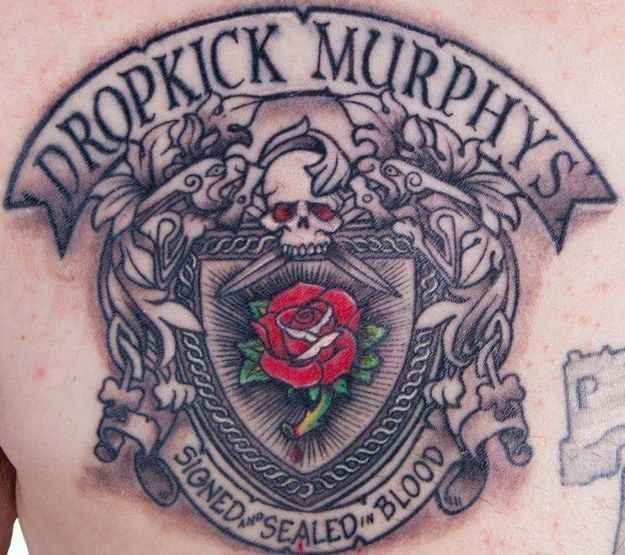 28 Tattoos Inspired By Your Favorite Bands Tattoos Dropkick Murphys Tattoo Dropkick Murphys