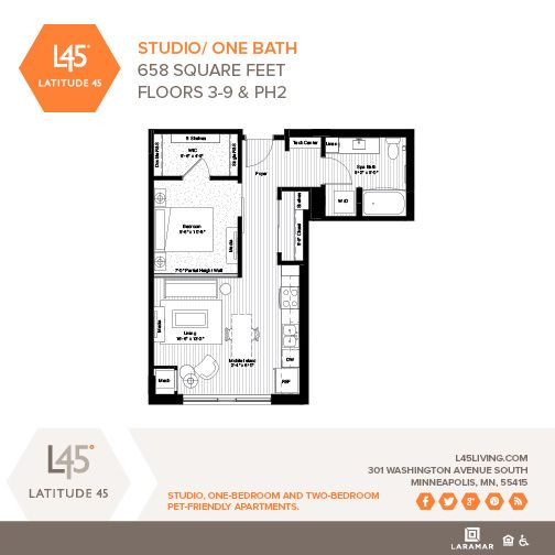 1 Bedroom Apartments Minneapolis: Available On Floors 3