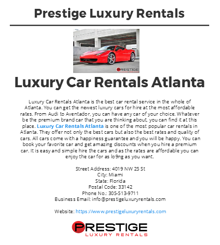 Find Here The Best Cars That Suit You For A Rental On Luxury Car