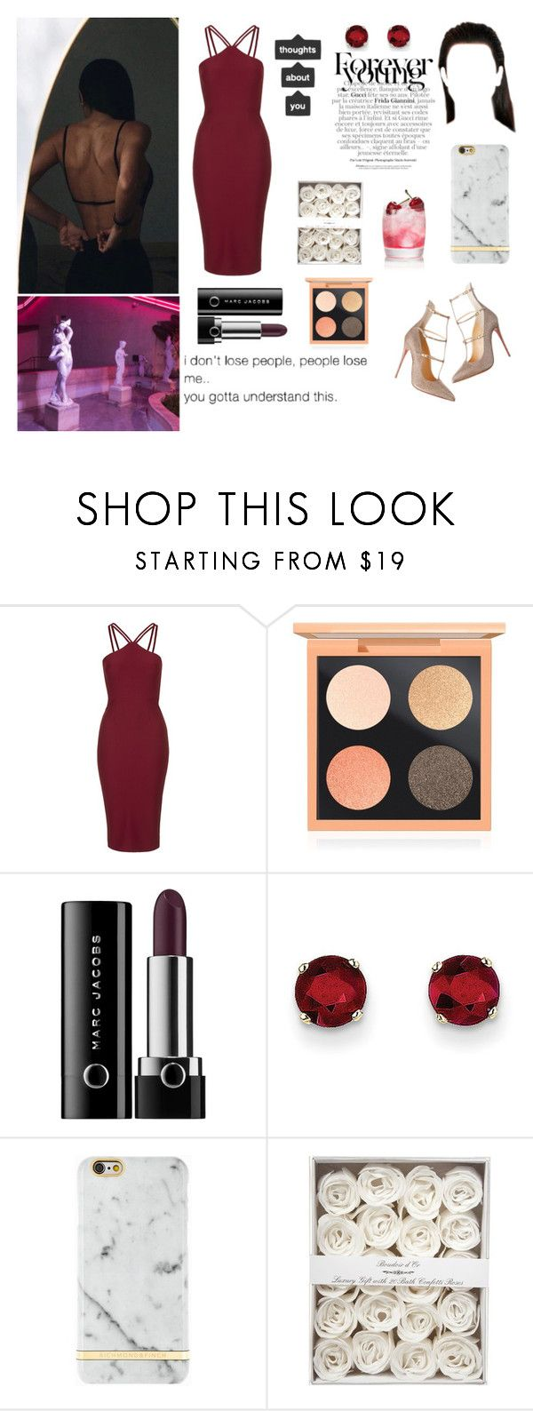 """Where you from? I'm from west side California baby"" by alba-mudarra ❤ liked on Polyvore featuring Oh My Love, MAC Cosmetics, Marc Jacobs, Kevin Jewelers, Richmond & Finch and Gucci"