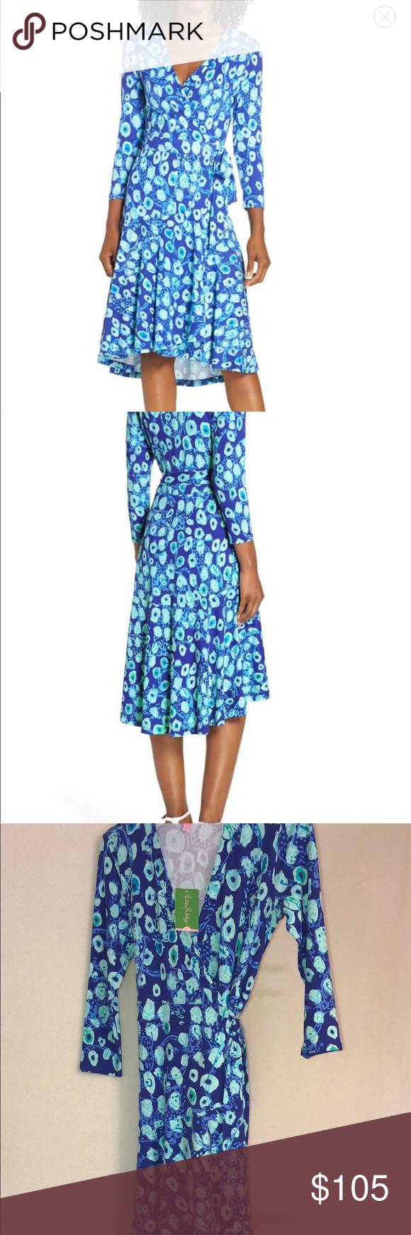 91efa6724daa8 NWT Lilly Pulitzer Rozaline Wrap Dress 💙 NWT Lilly Pulitzer Rozaline Wrap  Dress. In Royal