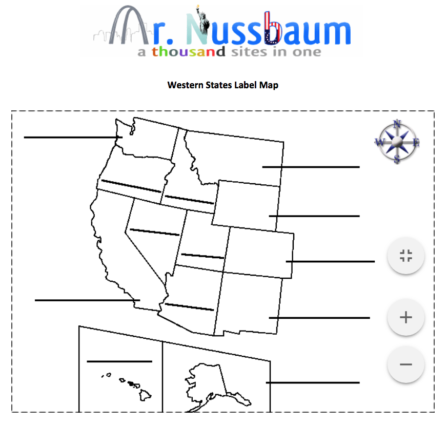 Us Western States Map This is a printable western states label me map. Perfect for