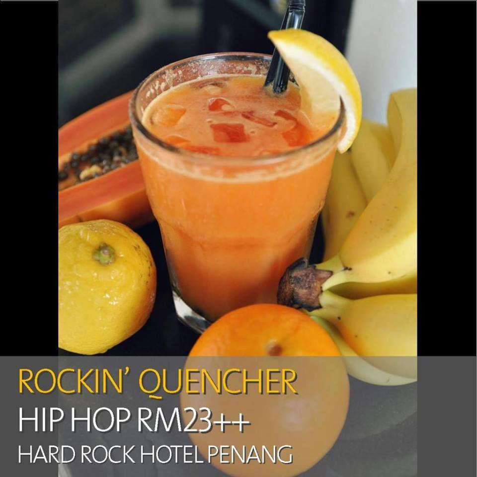 The recipe for a #healthy glowing skin? Papaya, Banana, Lemon, Orange and Cinnamon. Order this #drink from our bars. #HardRock #Penang