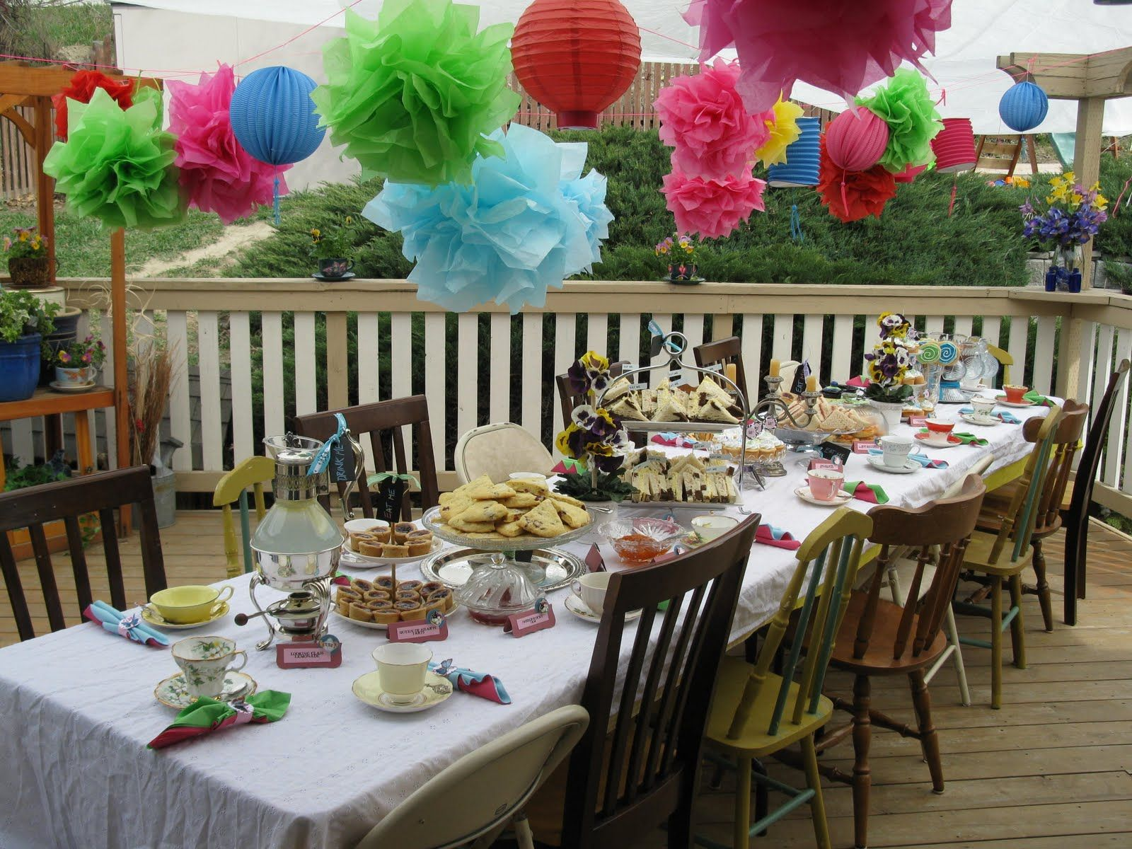 Mad Hatter Tea Party Part Ii Table Decorationsparty Decoration Ideastea