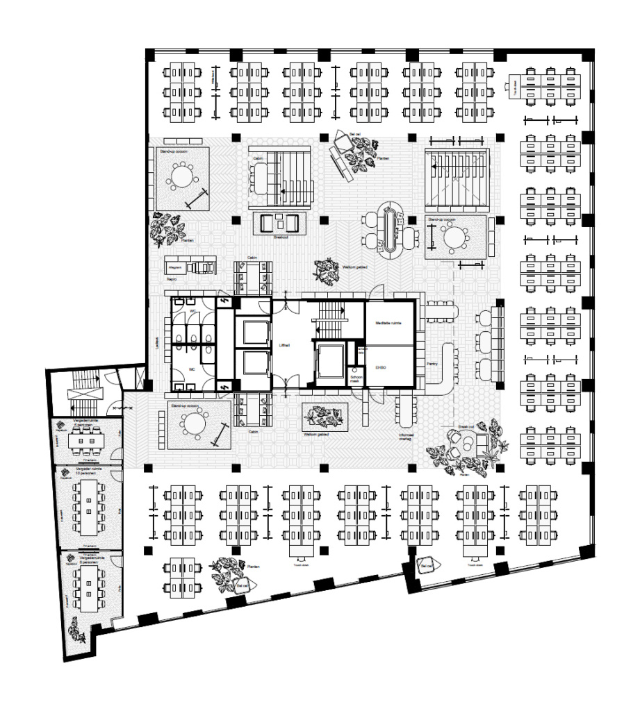 Hofmandujardin Booking Com Bloomhouse Plan2 Office Snapshots Office Floor Plan Office Building Plans Office Layout Plan