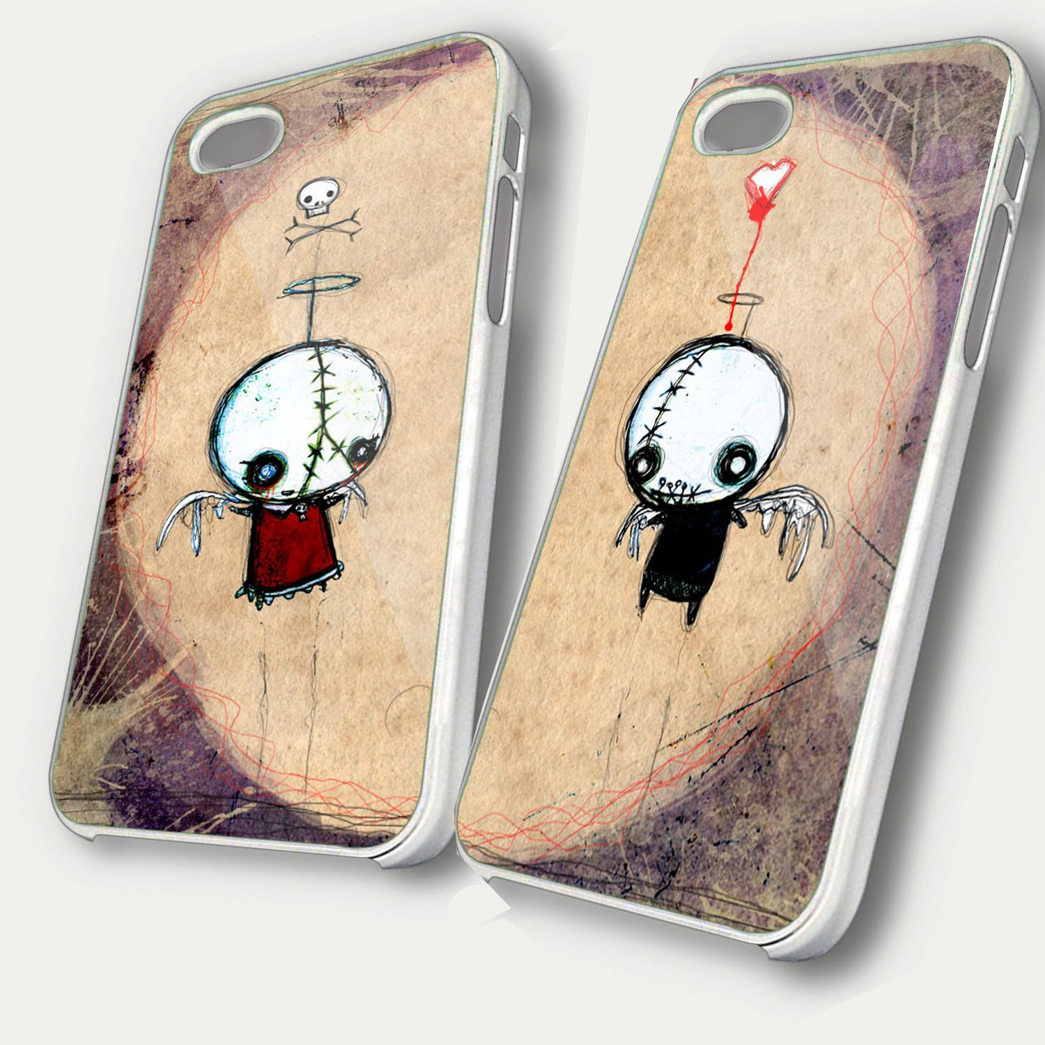 Coulple Valentine Dead  custom Unique Case iphone 4,4s hard case & case i phone 5 hard case. $31.99, via Etsy.