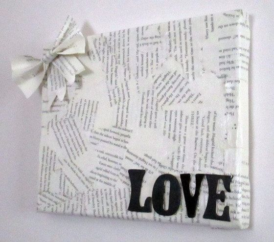Book Page Canvas, Book Page Wall Art, Library Decor, Book Page Home ...