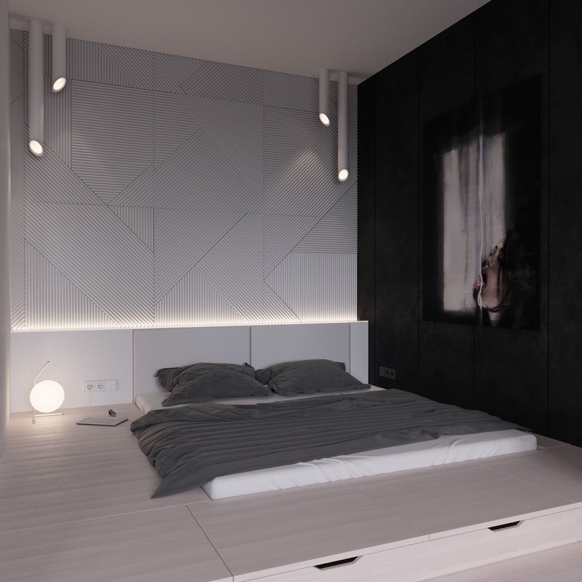 Minimalist Bedroom White Bedroom Walls Pin by