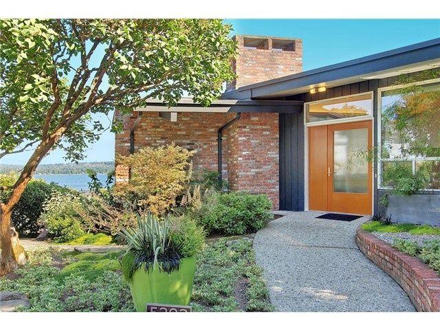 image result for mid century house orange brick - Exterior House Colors With Orange Brick