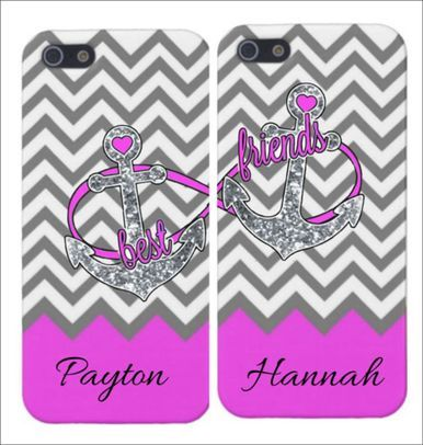 Glitter Anchors Best Friends Iphone Cases