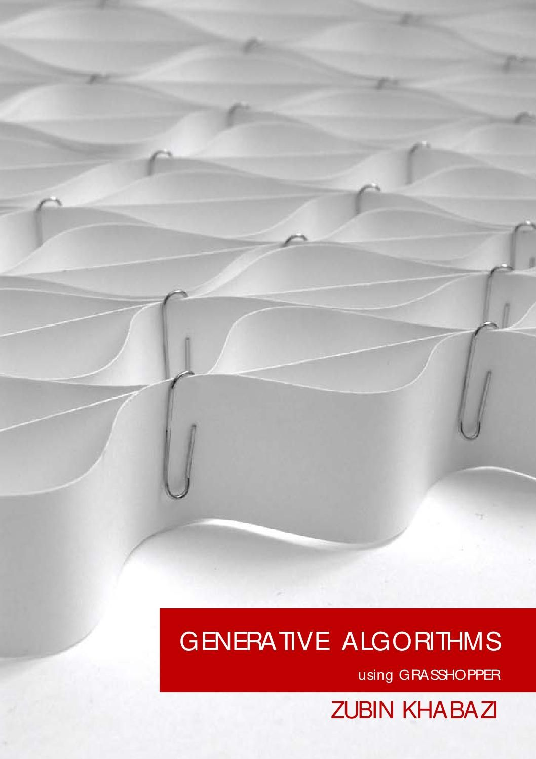 Generative algorithms grashopper gh y m s parametric for Arquitectura parametrica pdf