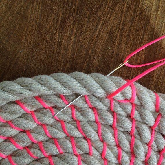 Diy Rag Rug Basket: Coil Rope Bowl Tutorial. Woven Rope Basket Making