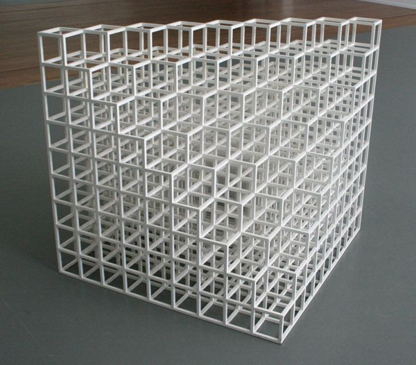 Sol lewitt floor piece no1 cube structure based on for Minimal art sol lewitt