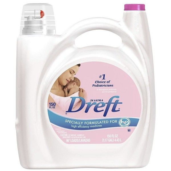 Dreft 2x Ultra Liquid Laundry Detergent 96 Loads 150-oz. ($60) ❤ liked on Polyvore featuring home, home improvement and cleaning
