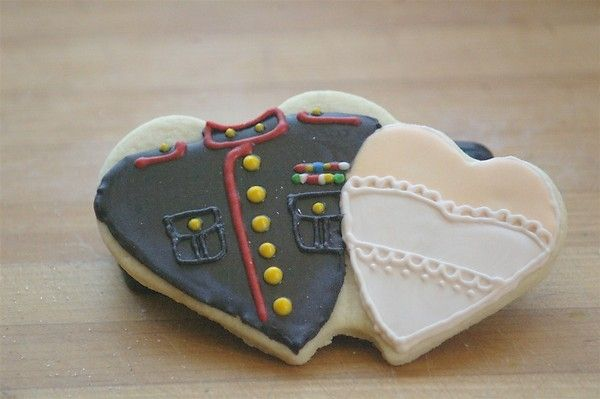 Marine Wedding cookies