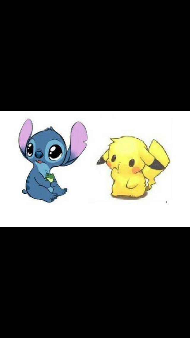 Cute Stitch And Pikachu Stitch And Pikachu Toothless And Stitch Stitch And Angel