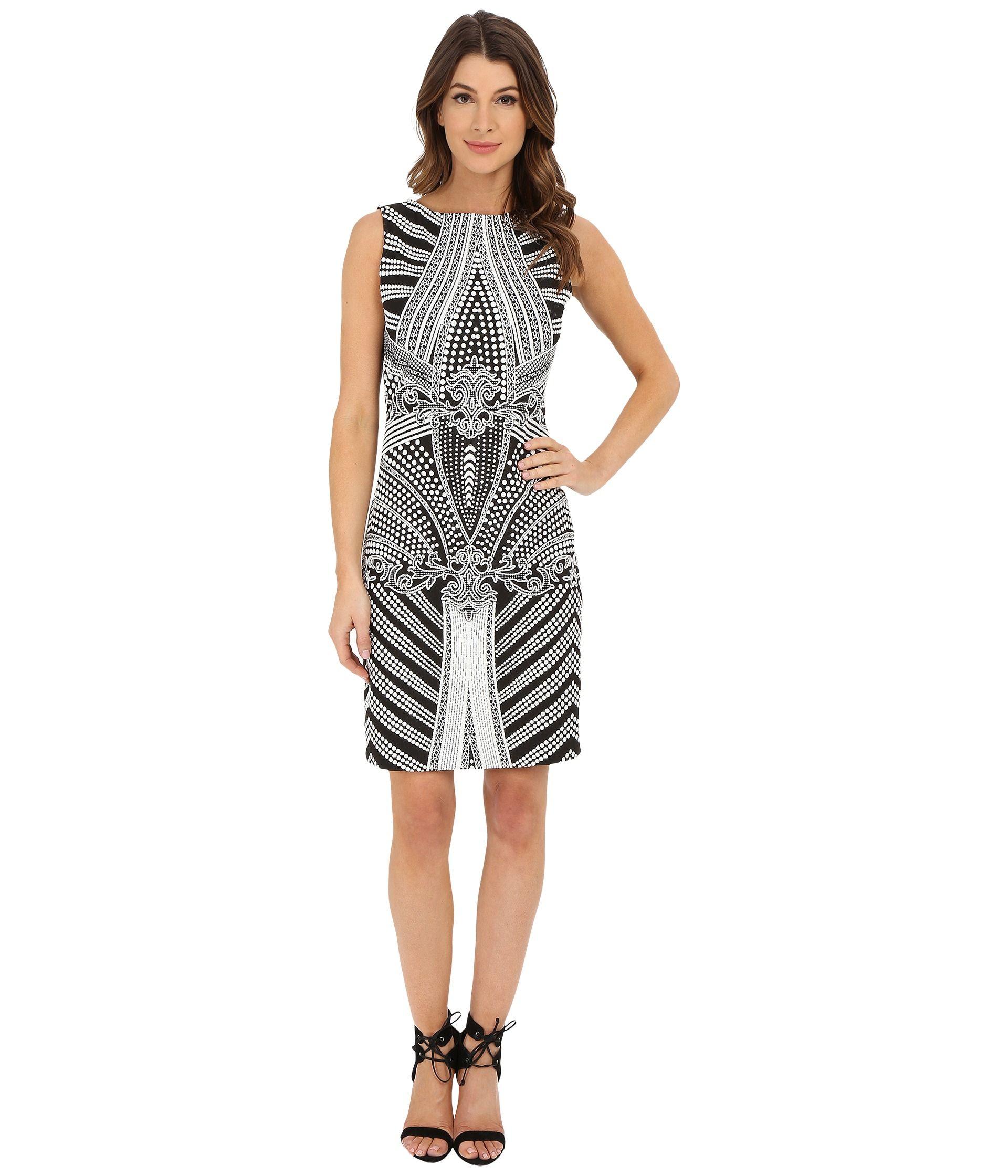 Christin Michaels Bordeaux Knit Dress