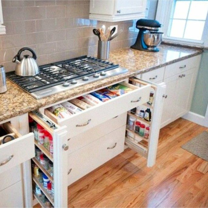 Small Kitchen Organization Hacks - How to Organize a Small Kitchen with No Pantry #smallkitchenorganization #nopantry #nopantrysolutions #kitchenorganization #gettingorganized #organizationideasforthehome #storagesolutions #diystorageideas #smallkitchenorganization
