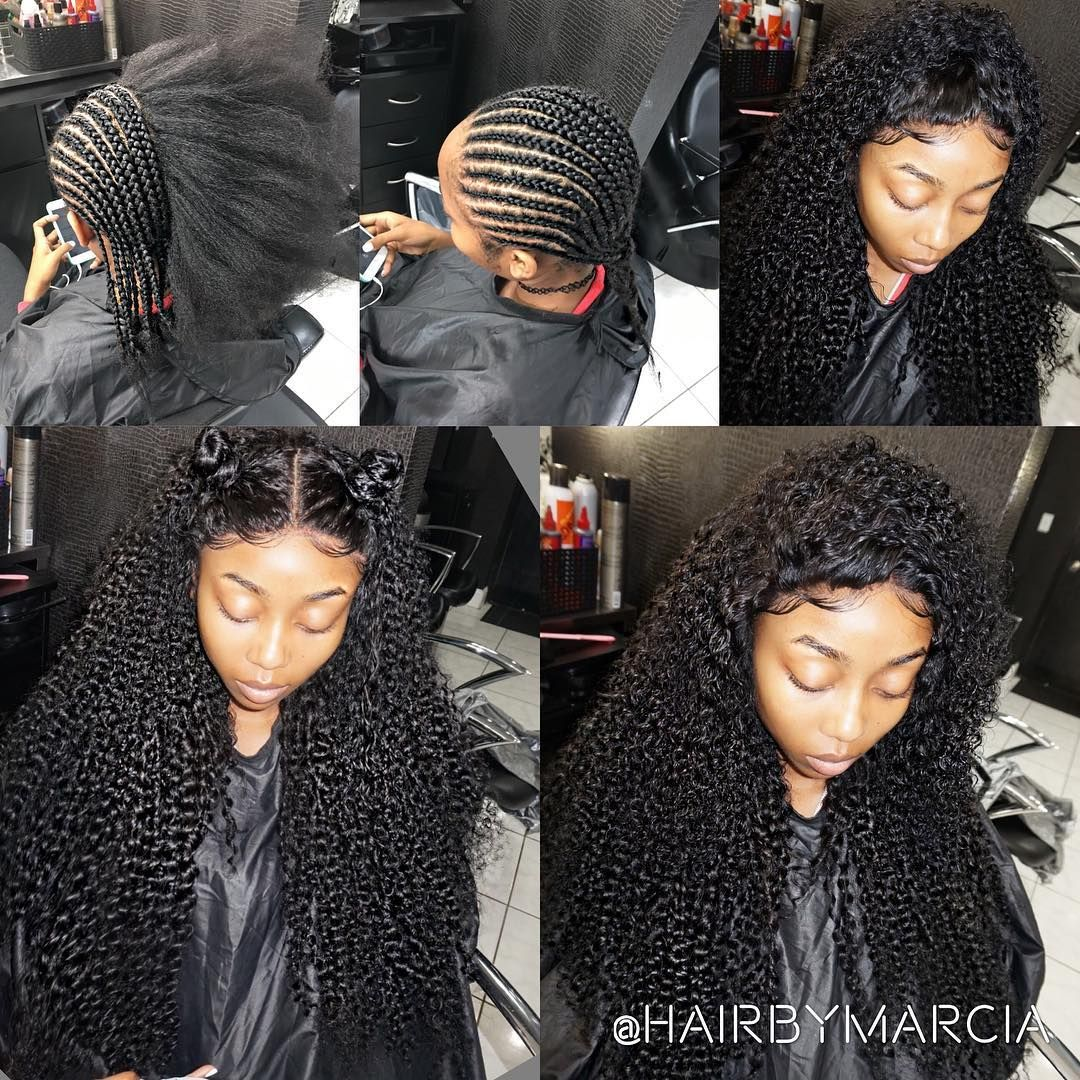 glue-less) full sew-in with frontal look can be achieved