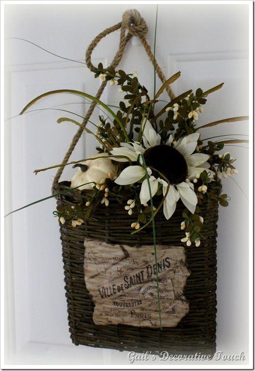 Fall Wreaths And A Hanging Door Basket ~ U003c3 The Basket!
