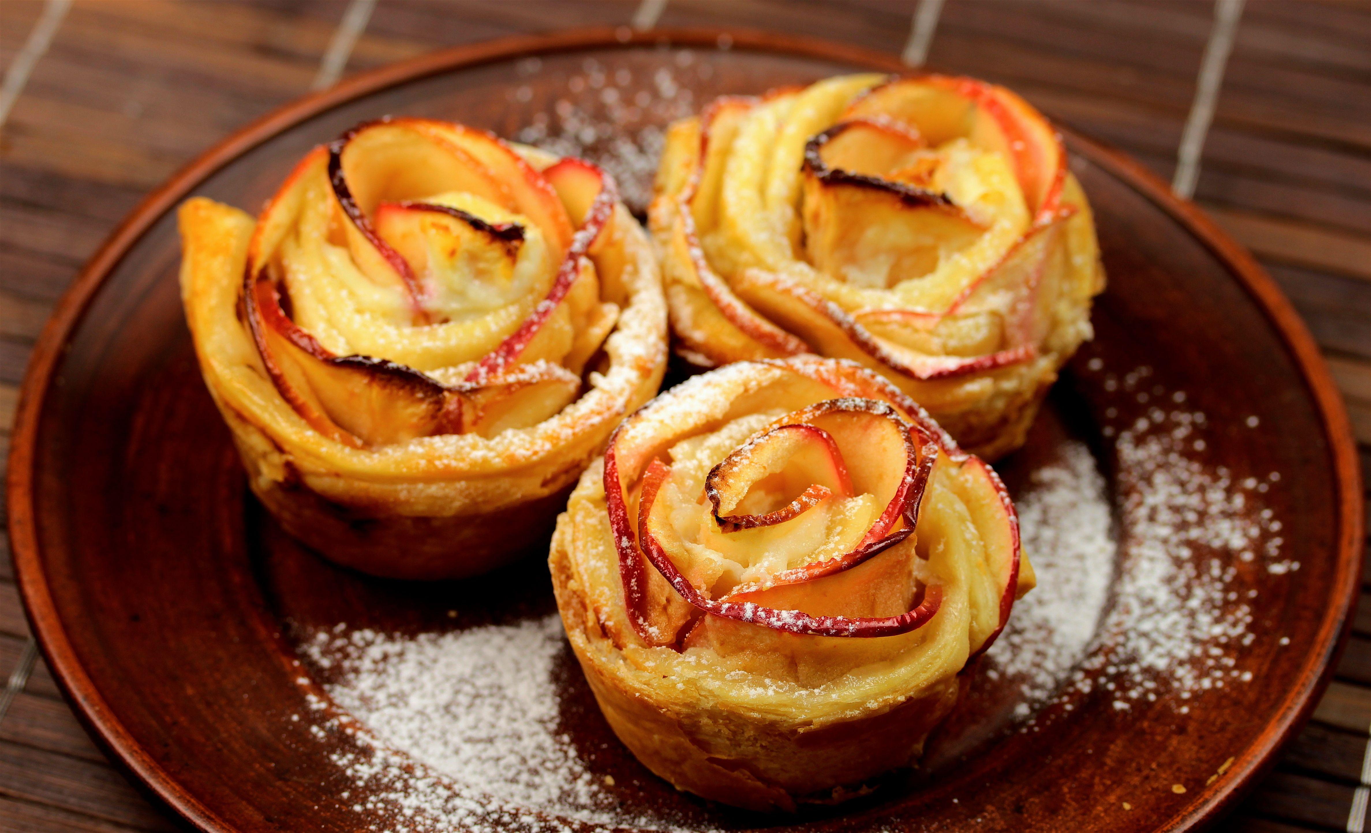 Torta de maçã e massa folhada  https://www.facebook.com/perfeito.guru/videos/455578811302327/